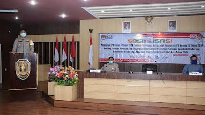 Kapolres Situbondo Menghadiri Sosialisasi Peraturan Tentang Perubahan, KPU Nomor 5 Tahun 2020