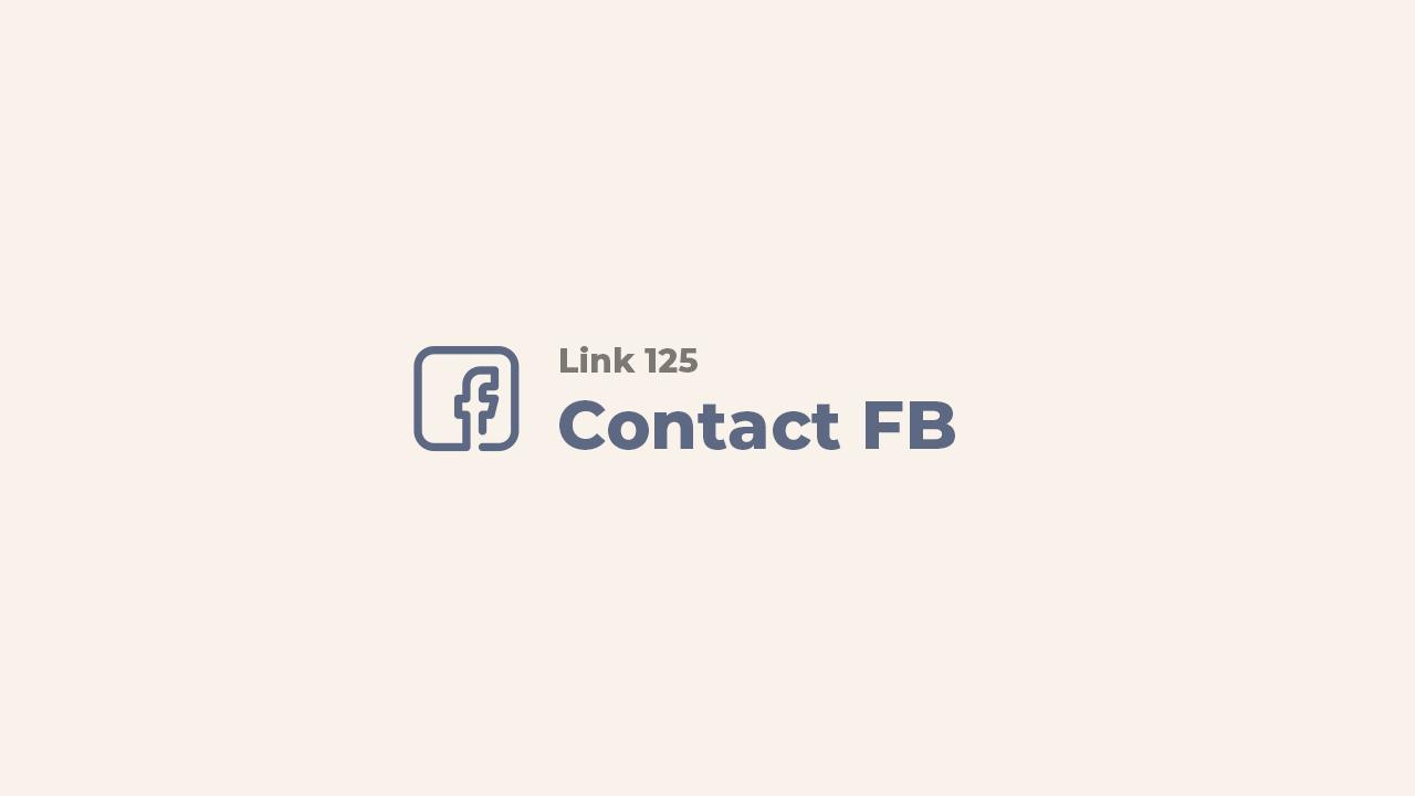 Link 125 - Tôi gặp sự cố khi truy cập trang của mình trên Facebook