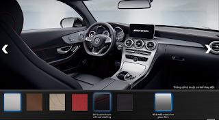 Nội thất Mercedes AMG C63 S 2015 màu Đen Leather chỉ Đỏ 241
