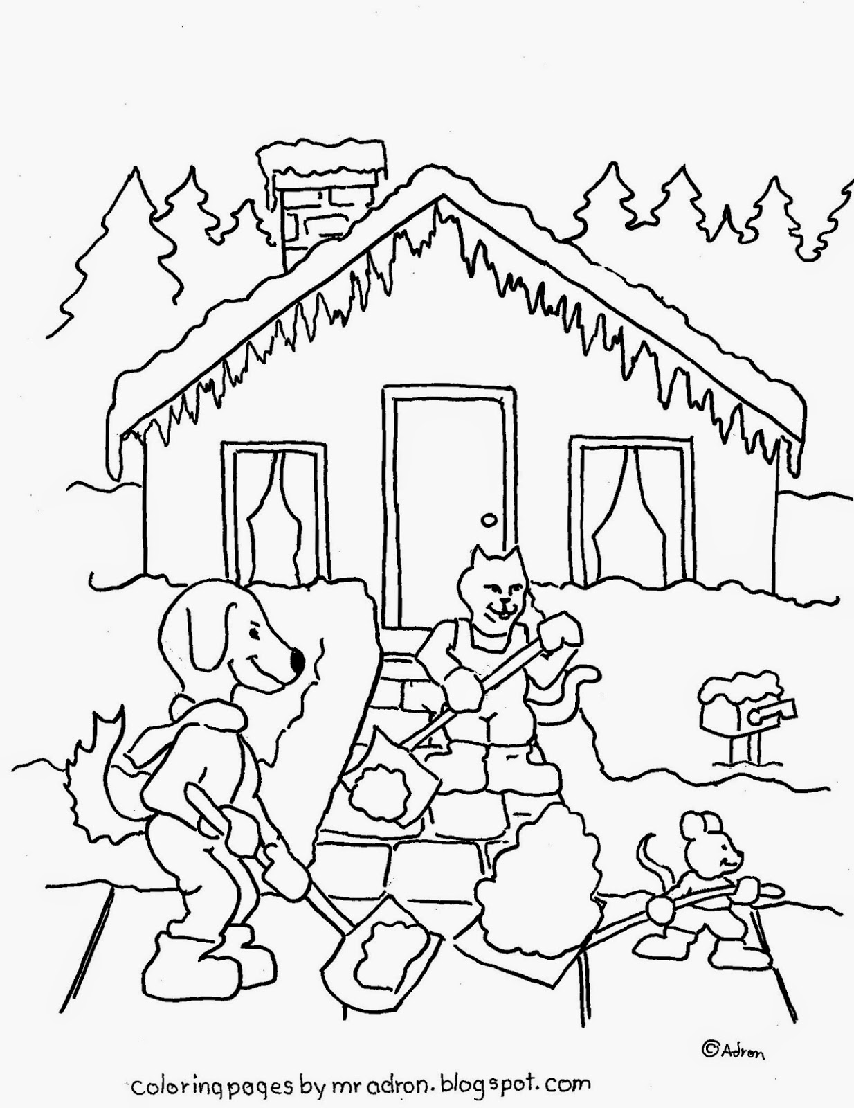 Coloring Pages for Kids by Mr. Adron: Free Coloring Page