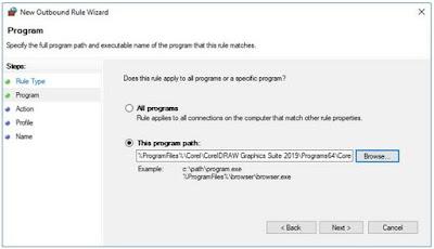Pada titik ini, Anda dapat mematikan menutup Window Defender Firewall dan sudah dapat membuka CorelDRAW sambil tetap menyalakan Internet