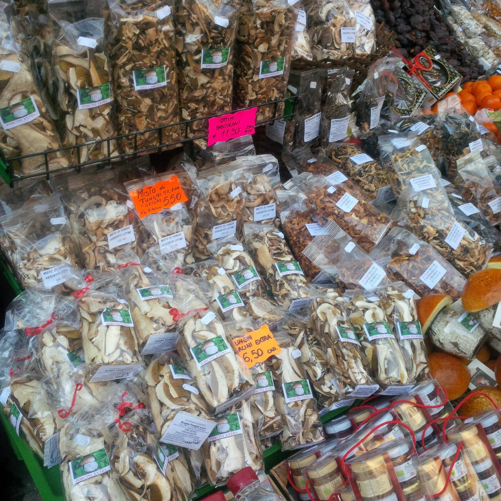 Dried porcini mushrooms, Asiago, Veneto, Italy - www.rossiwrites.com