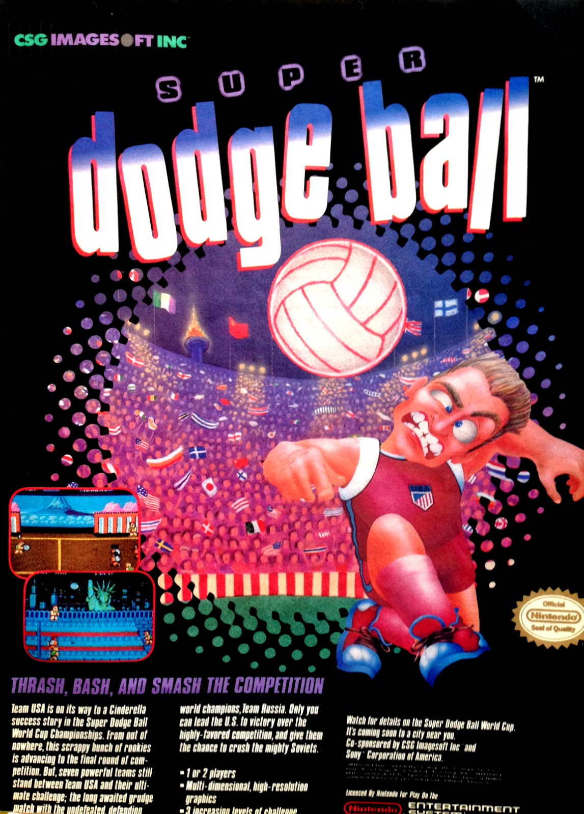 Super Dodge Ball for NES advertisement