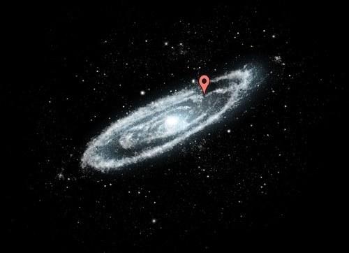 كوكب-الأرض-بالنسبة-لمجرة-درب-التبانة