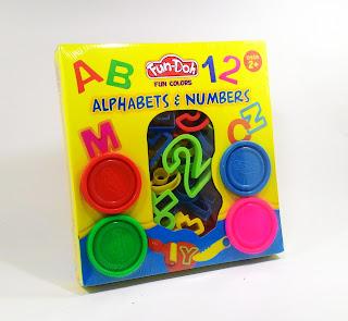 Fun Doh Alfabet n` numbers, mainan anak, mainan edukatif, lilin mainan