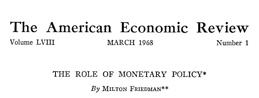 The Grumpy Economist Friedman  At  This Month Marks The Th Anniversary Of Milton Friedmans The Role Of  Monetary Policy One Of The Most Influential Essays In Economics Ever Essay Paper Help also Business Plan Writers Austin  Health And Fitness Essays