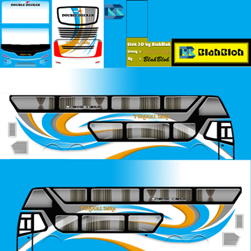 download livery bussid bimasena super double decker 30+ Livery BUSSID Bimasena SDD Terbaru Kualitas Jernih PNG