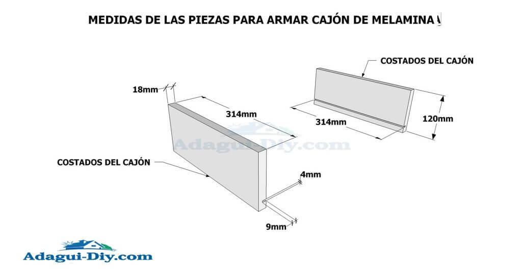 Como hacer muebles de cocina en melamina plano detallado for Planos para cocina de melamina