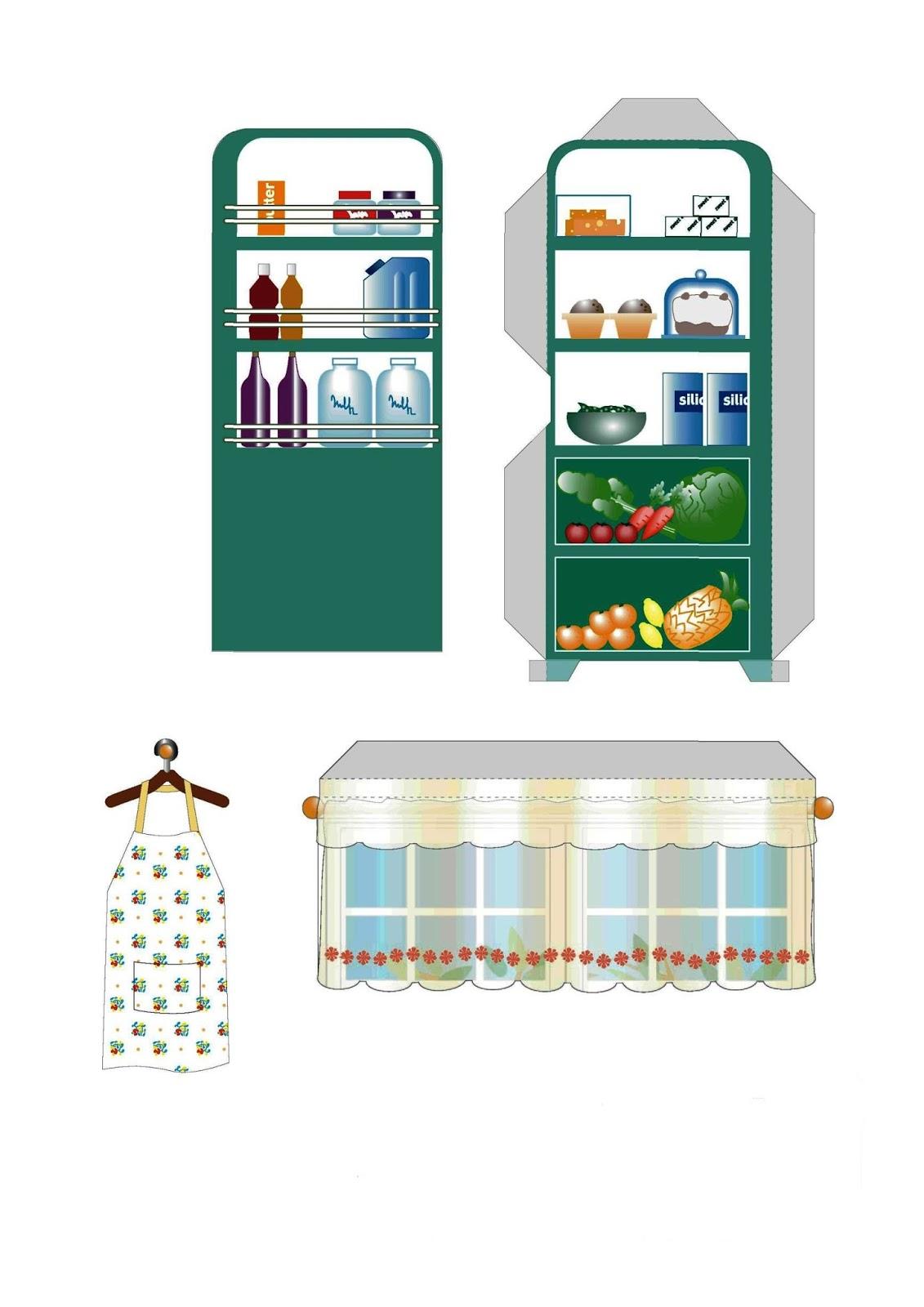 картинки для кукольного домика распечатать еда они