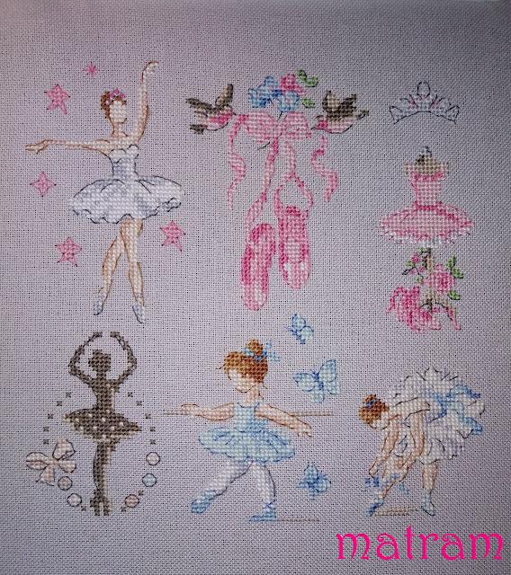 haft krzyżykowy baletnice