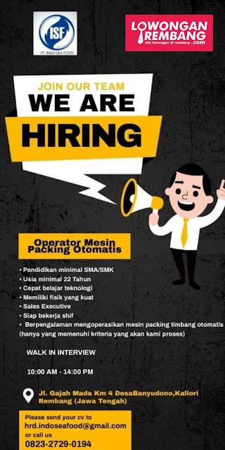 Lowongan Kerja Operator Mesin Packing Otomatis PT Indo Seafood Rembang