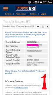 Waspada Ipay Gre Penipu dengan data BRI HASNI 746101004213531 hp 081213344284