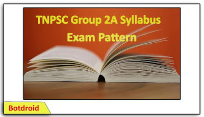 Download TNPSC Group 2A Syllabus and Exam Pattern in Tamil 2019