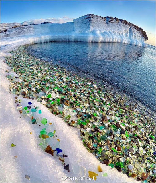 "Russia's ""Glass Beach"""