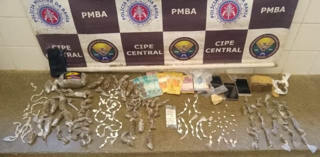 Ibicoara: Cipe Central apreende grande quantidade de drogas em Cascavel
