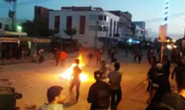 بنزرت مواجهات بين الأمن والمواطنين بسبب دفن مصابة بكورونا