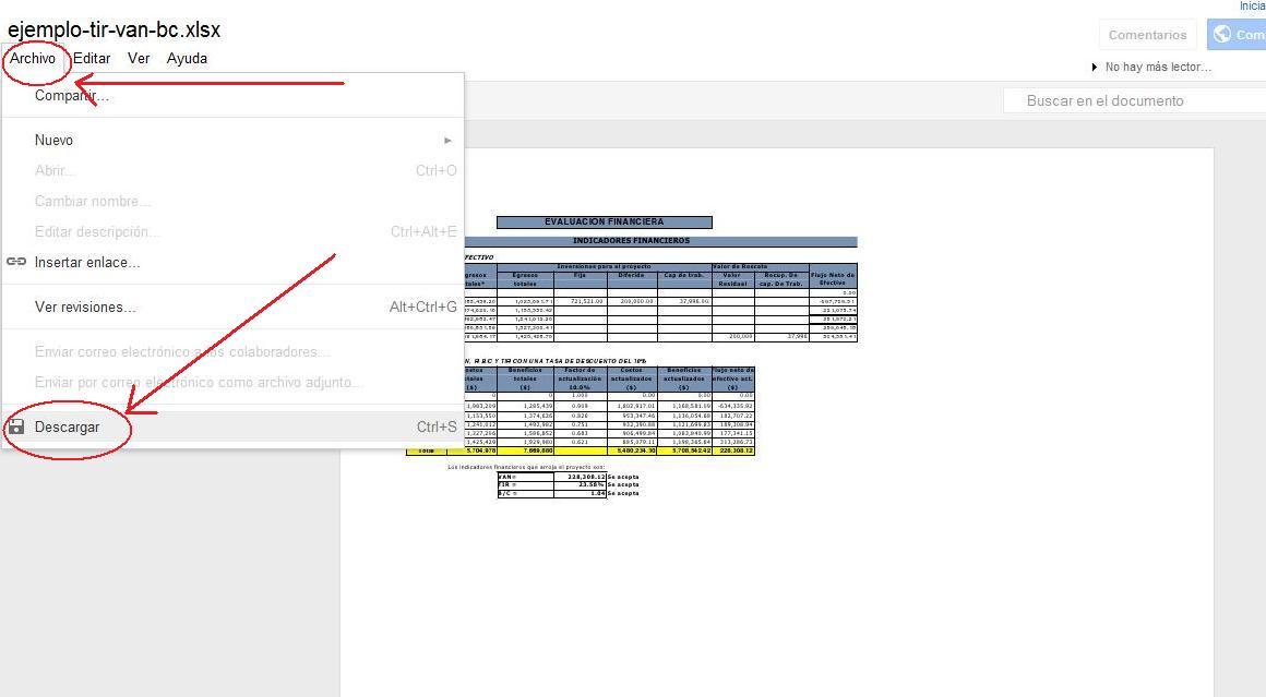 como descargar archivos en google docs como se hace