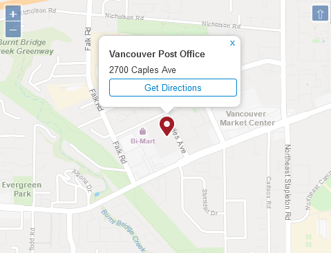 Post Office Vancouver Address & Location
