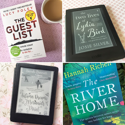 The Guest List by Lucy Foley   The Two Lives of Lydia Bird by Josie Silver   Autumn Dreams at Mermaids Point by Sarah Bennett   The River Home by Hannah Richell