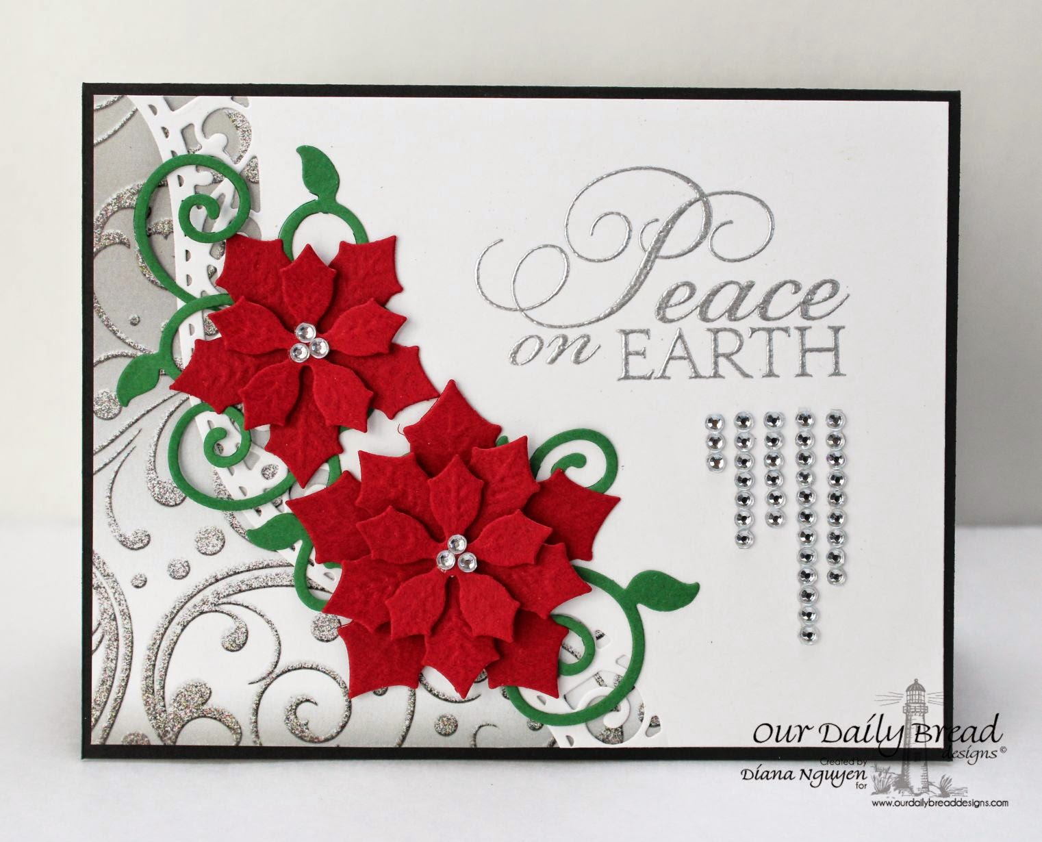 Our Daily Bread Designs, Christmas Mini set, Winter Collection, Peaceful Poinsettia, Fancy Foliage, Designed by Diana Nguyen
