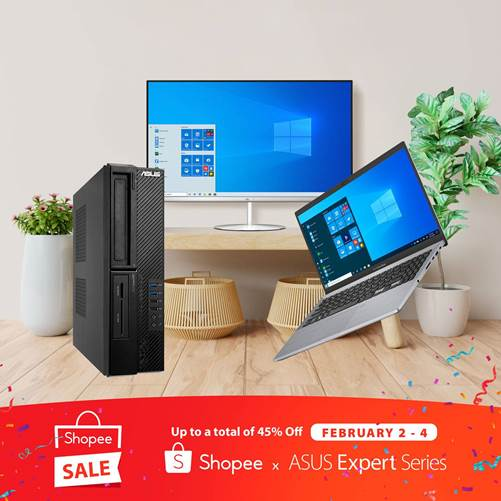 ASUS ExpertBook, ExpertPC, and All-in-One PC on Sale with up to 45% Off at Shopee 2.2 Sale