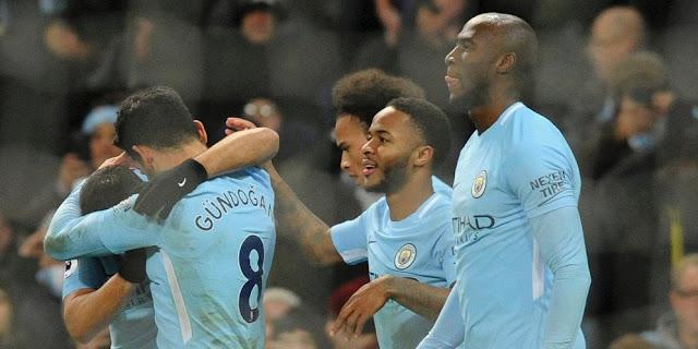Hasil Pertandingan  Liga Inggris : Manchester City vs Tottenham (4-1)