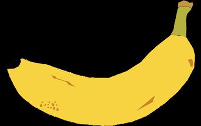 clipart gratis gambar buah pisang
