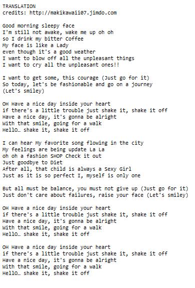 random jpop and kpop lyrics translations nishiuchi mariya