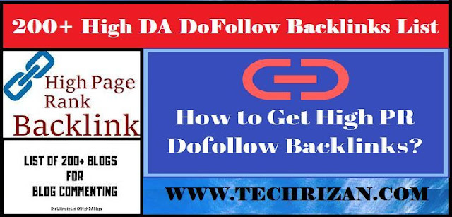 Top 200+ High DA DoFollow Backlinks List 2019