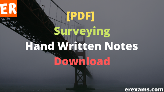 Surveying Notes Free Pdf Download