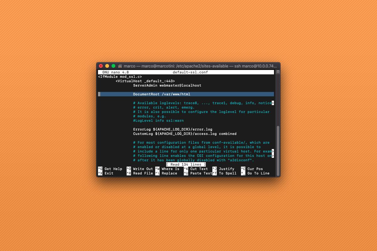 Come cambiare root directory ad Apache