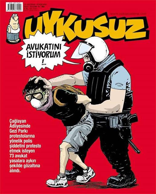 Uykusuz Dergisi | 13 Haziran 2013 Kapak Karikatürü