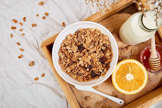 receta de los cereales con yogurt y naranja