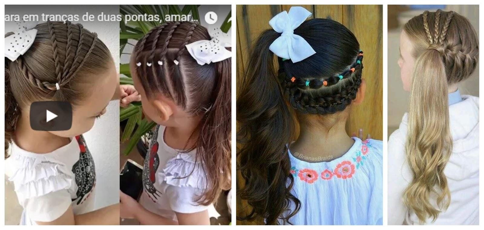 Peinados para niñas cabello largo con ligas