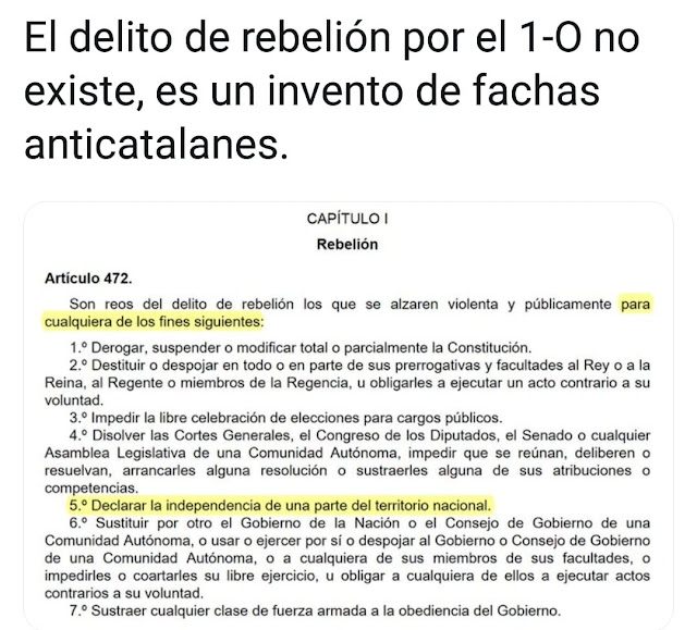Delito de rebelión 1-0