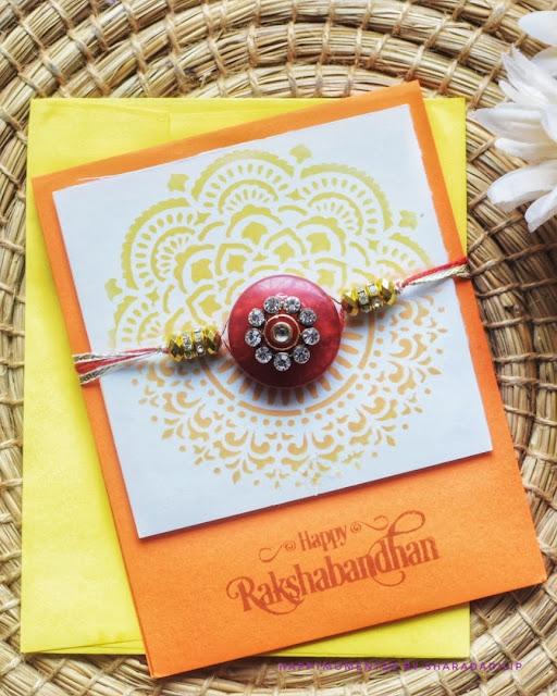 Traditional handmade Rakhi cards with Mandala design