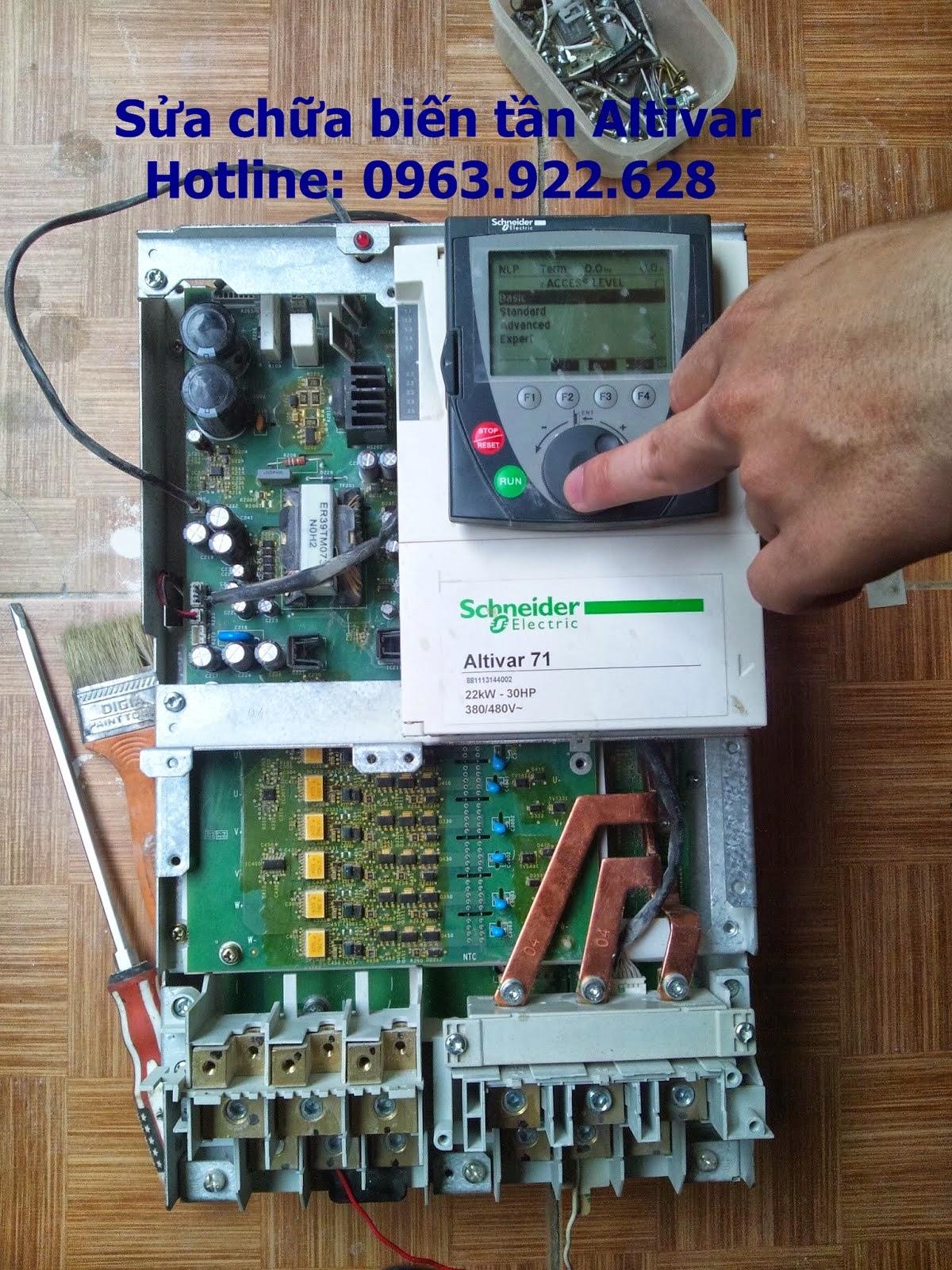 Chuyên sửa chữa biến tần Altivar ATV71, Altivar ATV61, Altivar ATV21