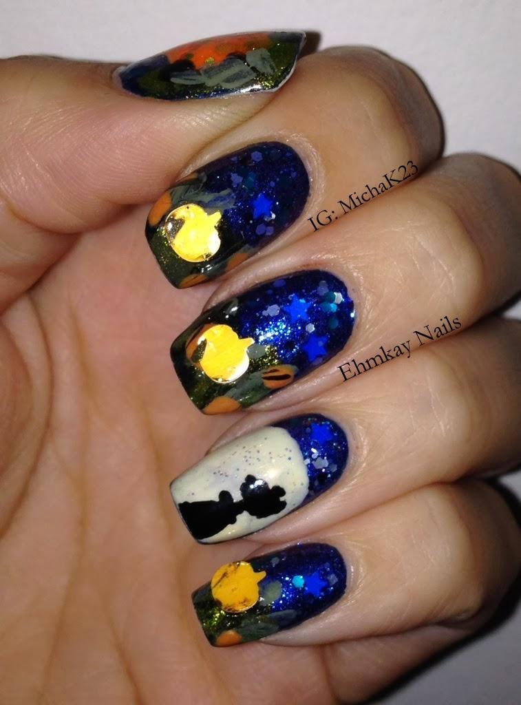 Ehmkay Nails: Charlie Brown And The Great Pumpkin Nail Art