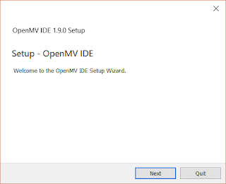 The OpenMV IDE Setup Wizard