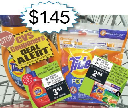 Tide Detergent CVS P&G Deal $1.45 - 9/15-9/21