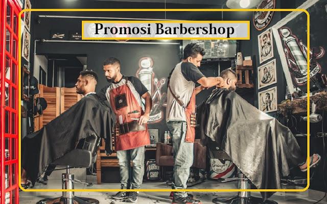 promosi barbershop potong rambut