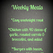 Looking back: weekly meals