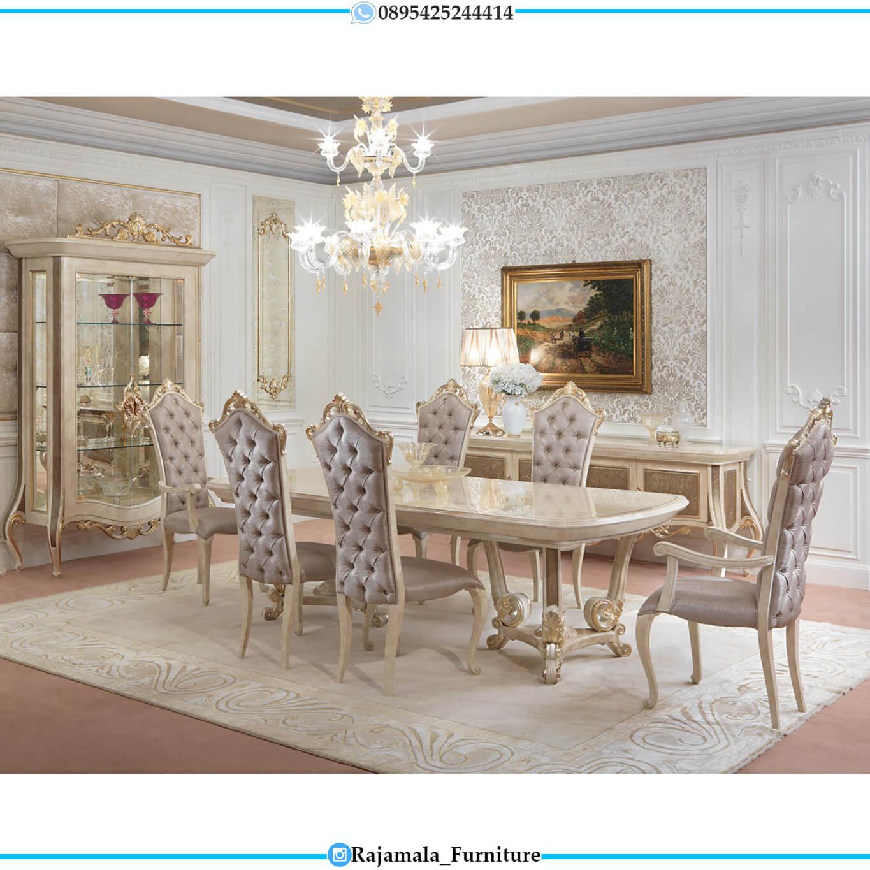 Adorable Set Meja Makan Mewah Classic Luxury Mebel Jepara Terbaru RM-0458