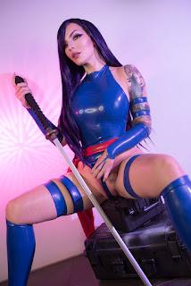 katyuska moonfox sexy topless psylock cosplay 02