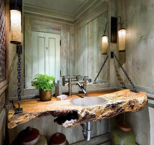 Μπάνιο ρουστίκ