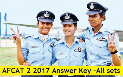 AFCAT & EKT 2 2017 Answer Keys, Cutoff marks, Result Date
