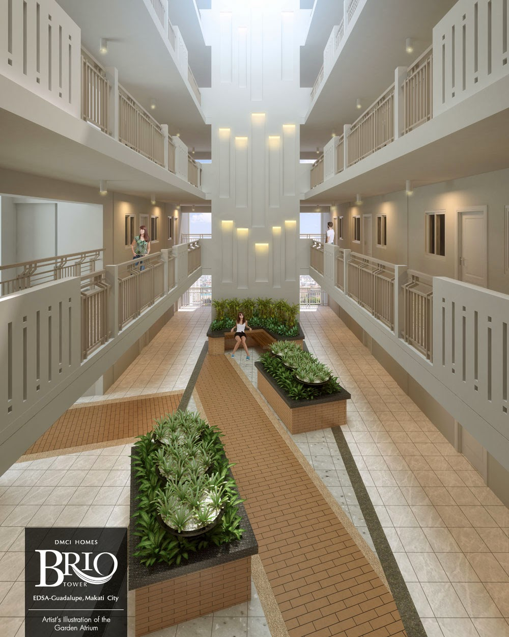 Brio Tower garden atrium