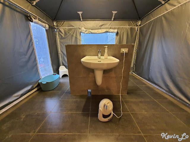 拉波波村營區獨立衛浴空間