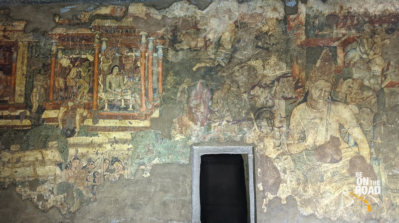 The iconic cave paintings of Ajanta Caves