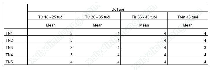 Chạy bảng kết hợp Custom Table trong SPSS